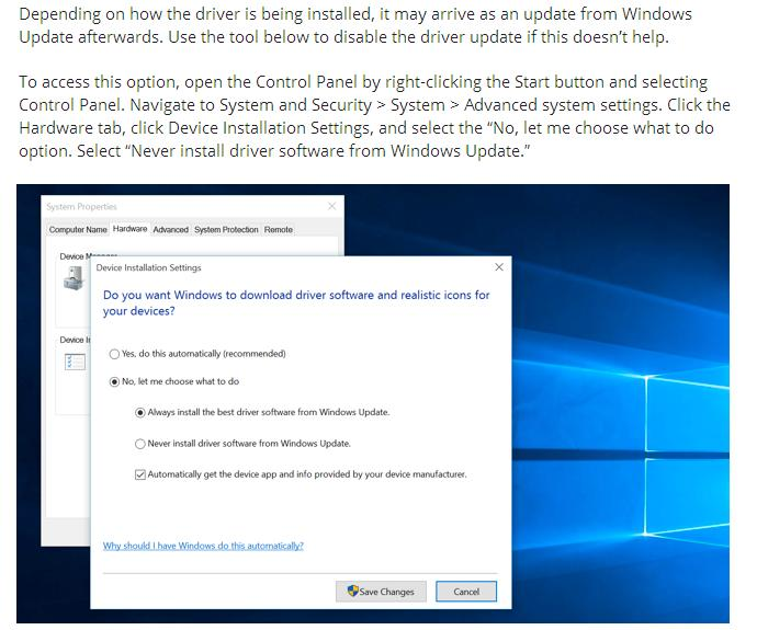 Windows 10 Driver Troubleshooting